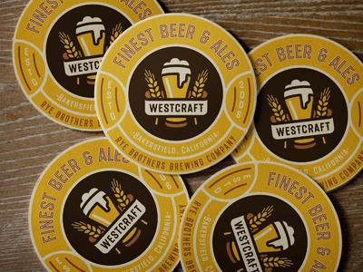 Beer Coasters beer vintage retro brew textured organic craft bottle font typeface lettering type