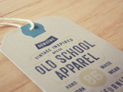 Old School Apparel apparel vintage retro graphics textured tee shirt label font typeface lettering type