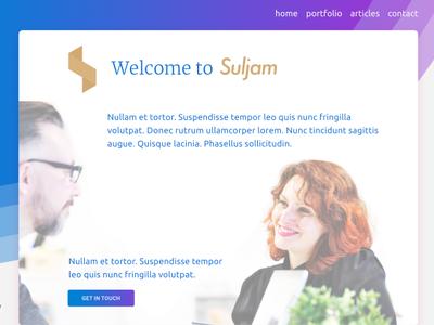 Suljam Beta Concept agency purple gradients concept