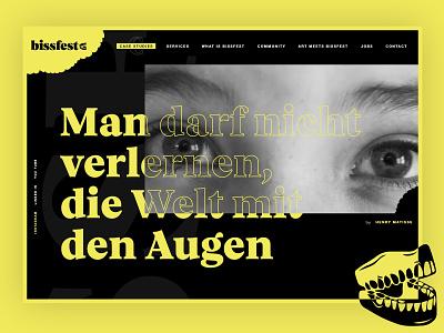bissfest animation ux ui desktop website design