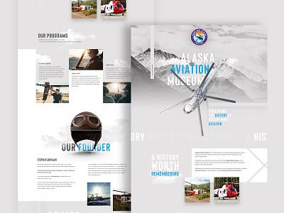 Alaska Aviation Museum web design ui ux desktop website design