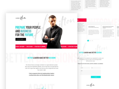 Consultation web design ui ux desktop website design