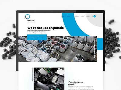 Lavergne Inc. recycle hp plastic business web design ui ux desktop website design