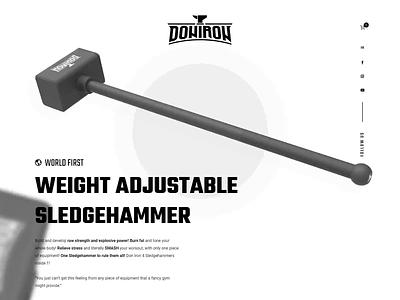 Don Iron - World First Weight Adjustable Gym Sledgehammer sledgehammer hammer weights fitness web design ux ui desktop website design