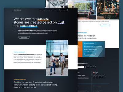 Asseco South Eastern Europe - Partner Program development partner b2b cms development dark website business web design ui ux desktop design