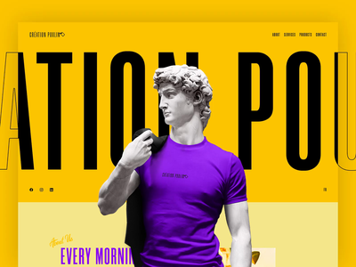 CRÉATION POULIN art t-shirt colors animation web design ux ui desktop design website