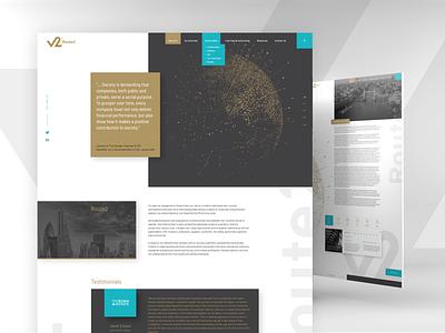 Route2 website business desktop design
