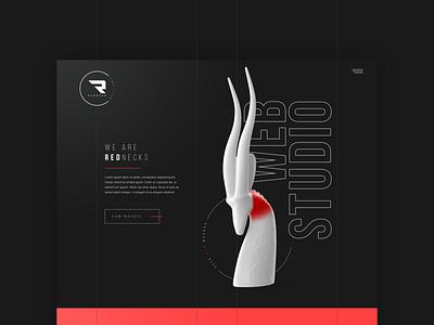 Redneck web studio art ux ui desktop website design