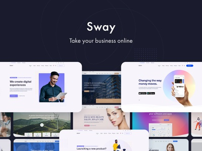 Sway - WordPress Theme with Page Builder wordpress themes website design responsive portfolio one page homepage ecommerce creative business blog landing page agency woocommerce webdesign web design wordpress theme wordpress