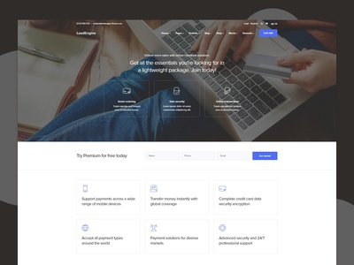 Payments Landing Page