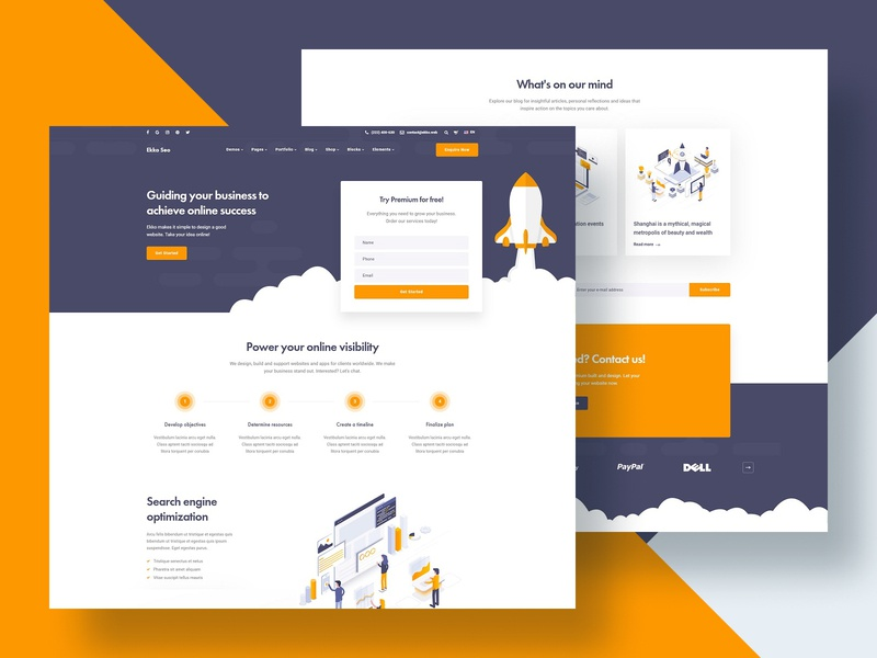 Seo Website Designs Themes Templates And Downloadable Graphic Elements On Dribbble