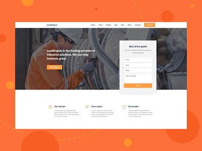 Industrial wordpress theme wordpress website design website webdesign startup multipurpose leadengine landing page industrial website industrial landing page industrial