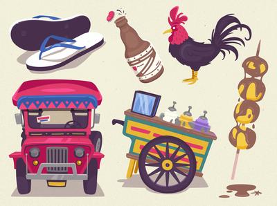 Kultura culture philippines vector illustration