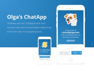 Design Olga's ChatApp sign up login onboarding app design