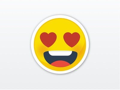 Picto - In love picto love in emoticon emoji