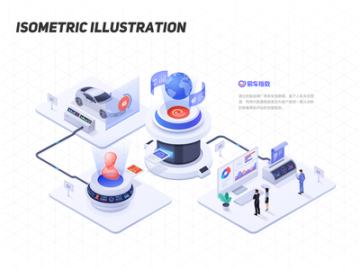 isometric illustration 01 web branding illustration