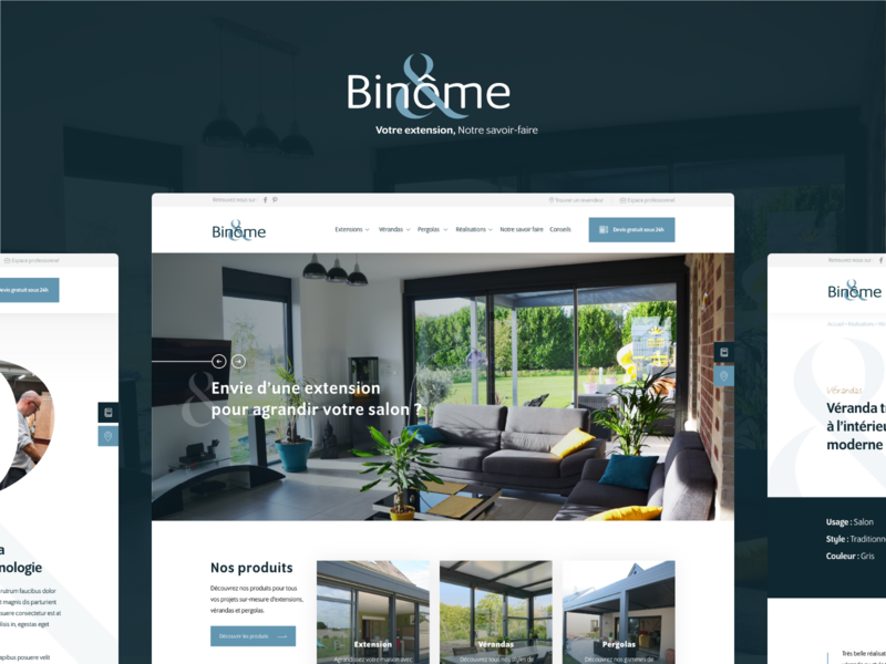 Binome business branding veranda corporate webdesign ui ux design