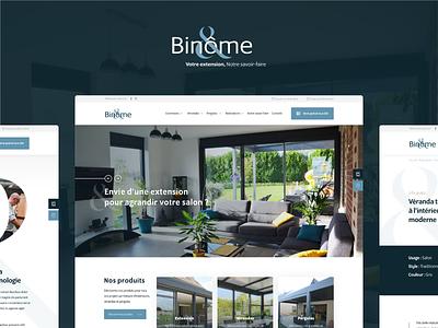 Binome business branding veranda corporate webdesign ui ux design