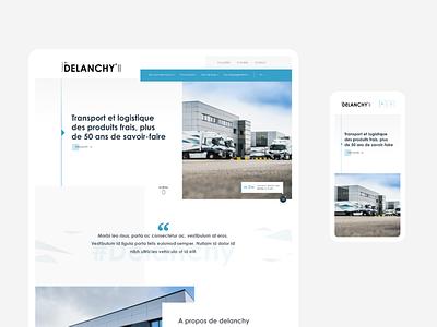 Delanchy wordpress website corporate webdesign ux design ui