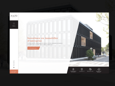 Fonciere Aalto wordpress website webdesign ux design ui
