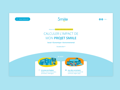 Smiile one page landing page website webdesign ux design ui