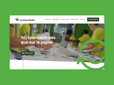Feuille d'érable wordpress business corporate website ux design ui