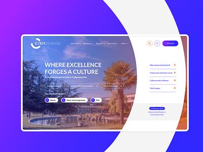 Cyberschool school website webdesign ux design ui