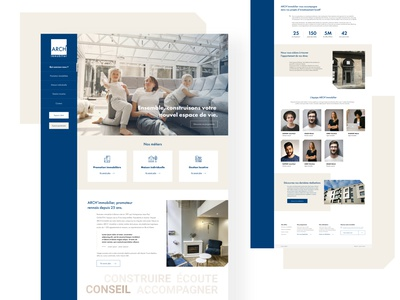 Arch'Immobilier immobilier corporate website ux webdesign design ui