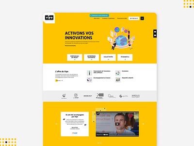 Vipe startup corporate website webdesign design