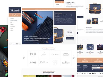 La Cartablerie website web design logo ui branding bags webdesign