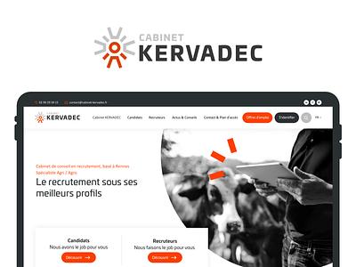Cabinet Kervadec recruitment agency recruit business corporate webdesign ux ui design