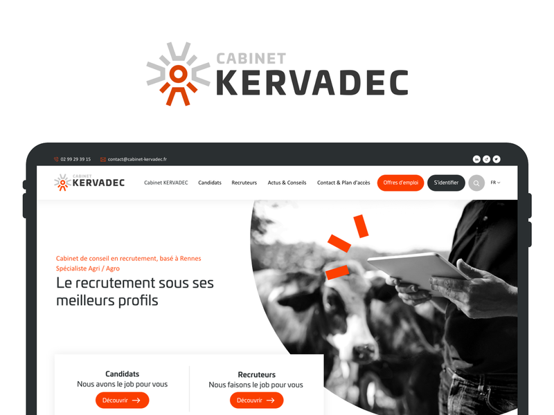 Cabinet Kervadec recruitment agency recruit business corporate webdesign ux ui design