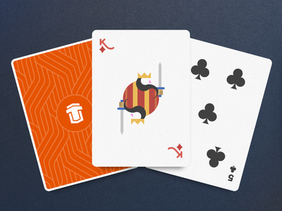 Playing cards minimalistic clean illustration print cards