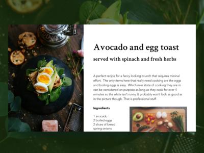 recipe - dailyUi 040