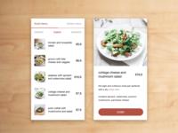 food/drink menu - dailyUI 043