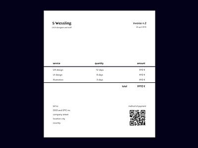 invoice - dailyUi 046 daily ui challenge minimal invoice dailyui046 dailyui