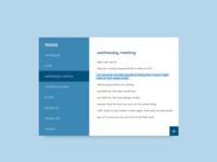 notes widget - dailyUi 065