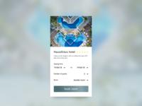 hotel booking - dailyUi 067