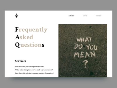 FAQ - dailyUi 092 frequently asked questions daily ui challenge faqs dailyui092 dailyui
