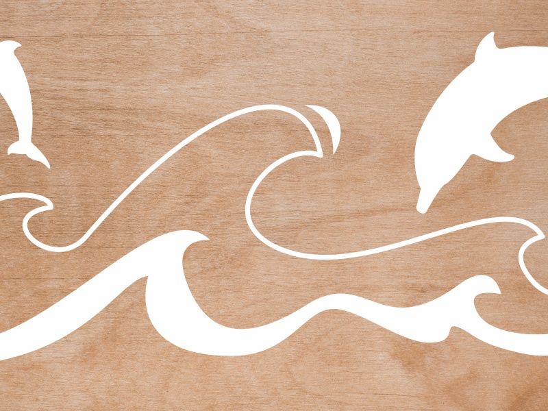Cut-out wood illustration silhouettes cutout kids modern plywood illustration