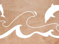 Cut-out wood illustration