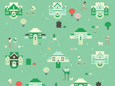Neighborhood 1 neighborhood design character illustration