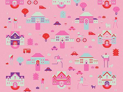 Neighborhood 3 neighborhood design character illustration