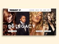TONI&GUY/Website Landing page