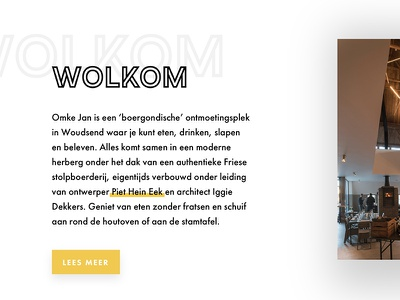 Omke Jan friesland restaurant webdesign