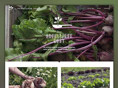Jouw Dagelijkse Kost food organic green webdesign