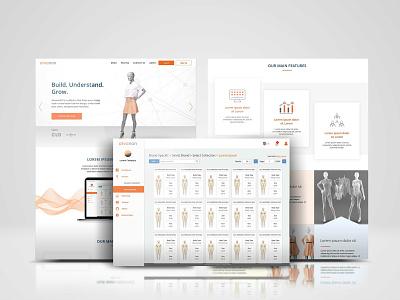 Alvanon 3D webdevelopment technoloy digital mannequin fashion 3d business minimal design typography website branding web ux ui
