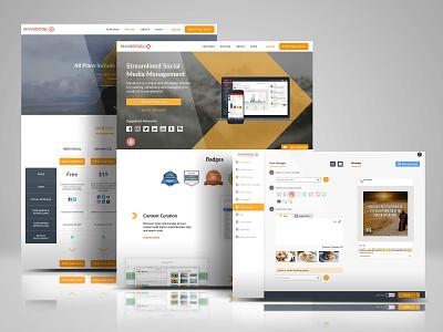 Mavsocial development portal website social media freelance ui ux ui design ux web design digital