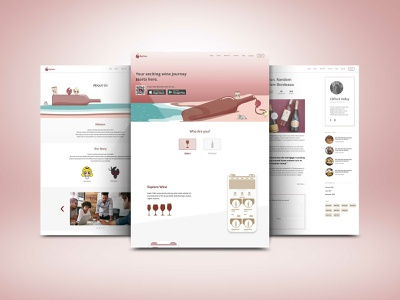 Myicellar Landing wine glass innovation technology development ui uidesign design app website webdesign digital ux ui design ux wine branding wine bottle wine app wine