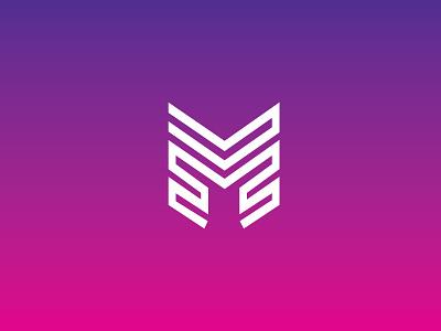 'Machine' Logo Design gradient m letter letterm vector design logo